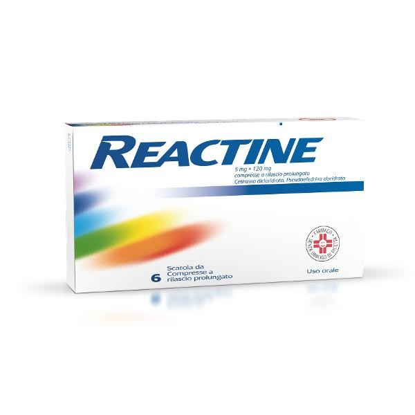 REACTINE 6CPR 5MG+120MG RP