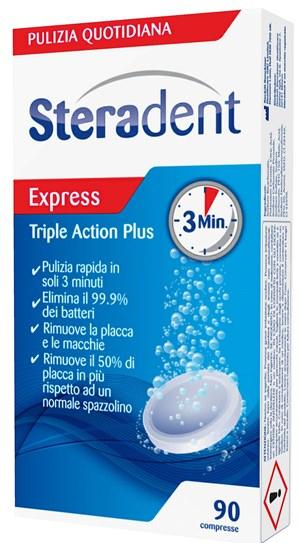 STERADENT Triple Action Plus 90 Compresse