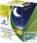 MELATONINA ACT 1MG + VALERIANA FORTE 60 COPRESSE